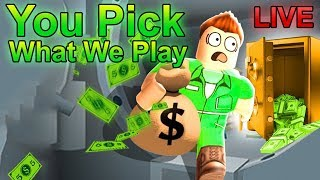 ROCK THE VOTE   Come Play ROBLOX With Me Live   Part 7