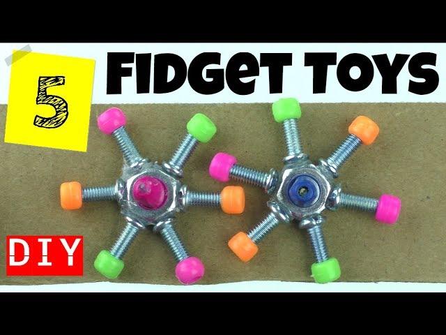 5 Cool Diy Fidget Toys Diy Easy Toys For Kids To Make Household