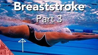 Brasse technique de natation. Partie 3. La glisse
