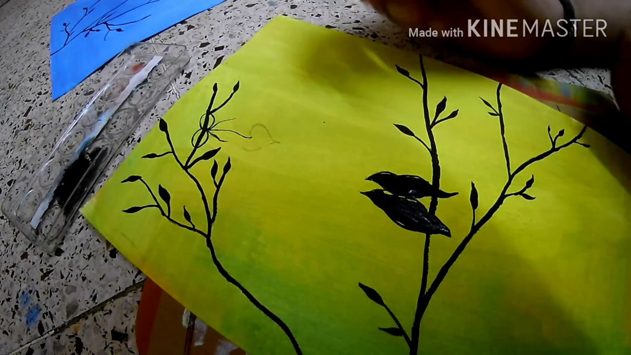 DIY Colorful Tree Canvas Painting ♥ Room Decor || EASY ACRYLIC ...