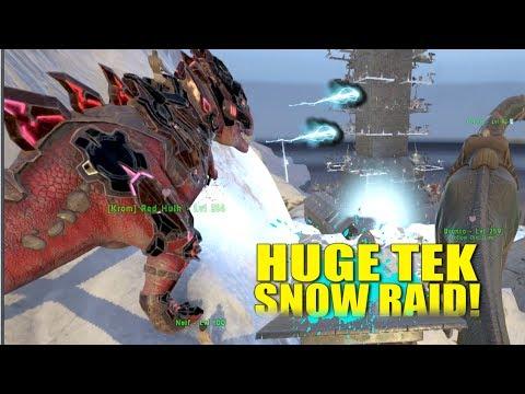 Huge North Snow Raid Pt.2!  (Raiders) -Ark: Survival Evolved -Ep.24