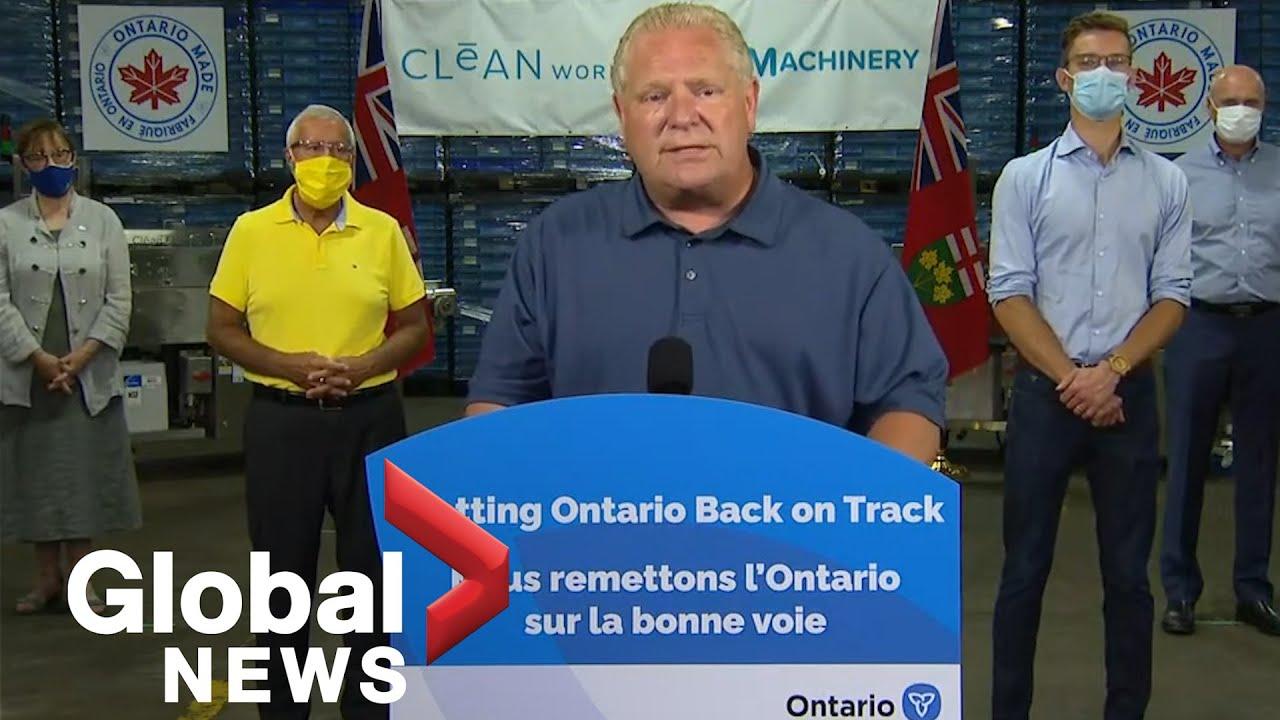 Coronavirus: Ontario provides $2M to convert apple farming technology into PPE sanitizer | FULL