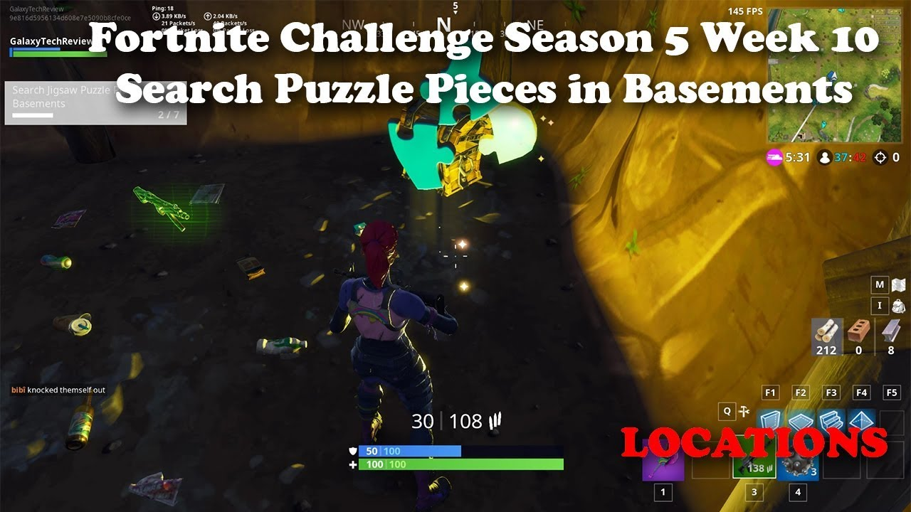 fortnite season 5 week 10 search jigsaw puzzle pieces in basements - where are all the jigsaw puzzles in fortnite season 8
