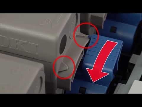 C8x4 серия Как заменить цветной тонер-картридж на принтере OKI C824/834/844