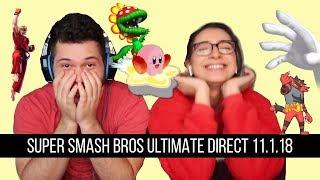 Super Smash Bros. Ultimate Direct 11.1.2018 Reaction!!!