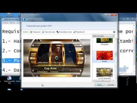 Tutorial - Como hacer DVD con Windows DVD Maker
