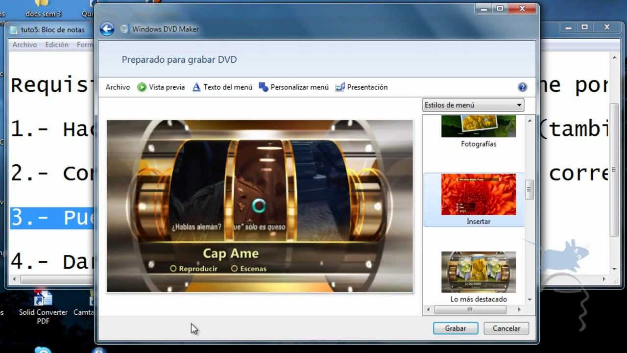 Tutorial como hacer dvd con windows dvd maker youtube.