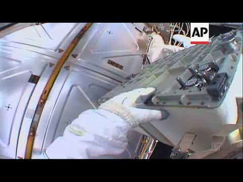 Astronauts Swap Cooling Pumps During Spacewalk