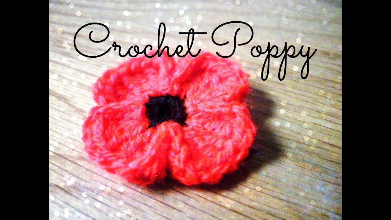Diy crochet poppy the corner of craft youtube mightylinksfo
