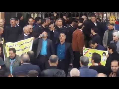 TEHRAN, Iran. Feb. 26, 2018. Protest gathering of the burned Plasco high-rise