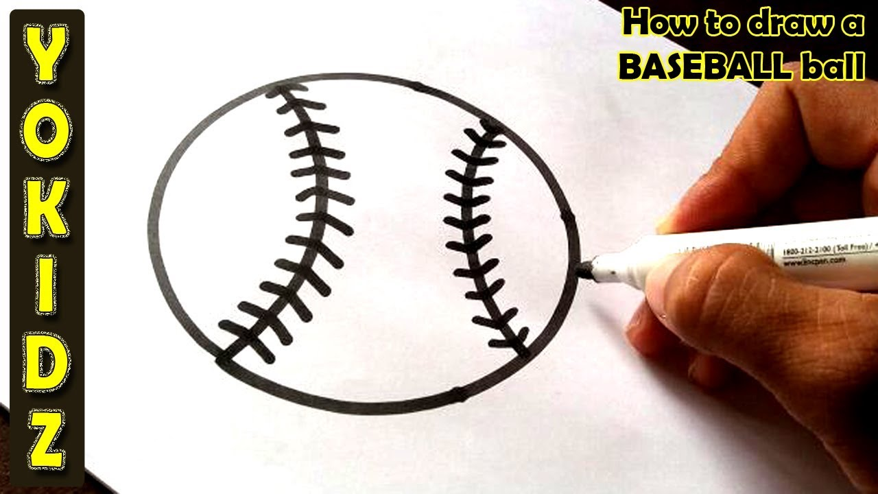 how to draw a baseball
