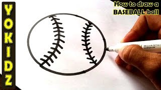 How to draw a BASEBALL ball
