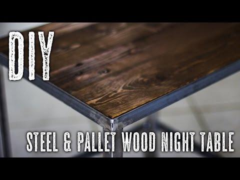DIY Steel & Pallet Wood table