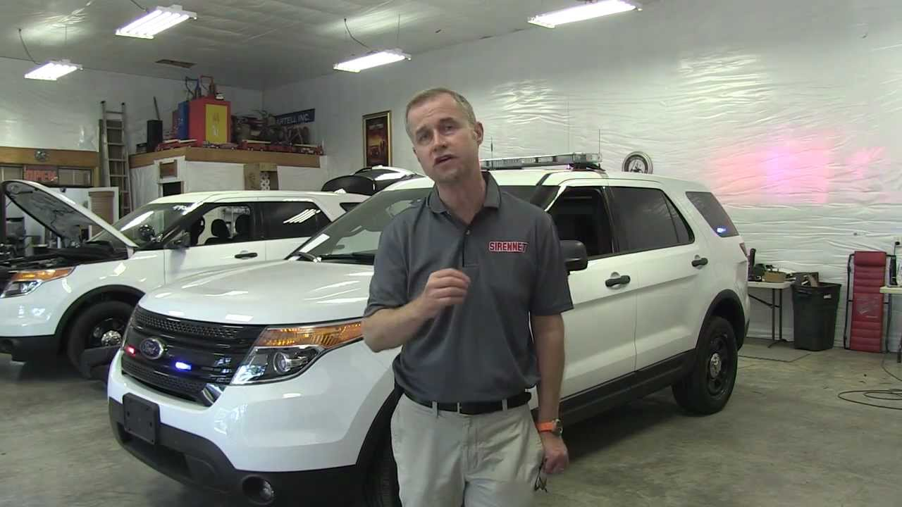 Ford Explorer Police Interceptor Suv K9 Unit Install Youtube