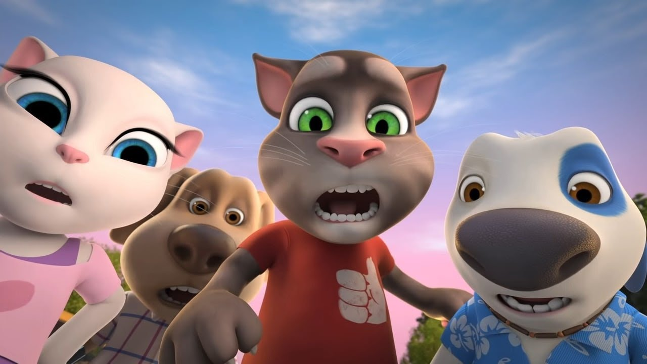 Download The Great Taxi Race - Talking Tom and Friends Cartoon (Season 4 Episode 7)
