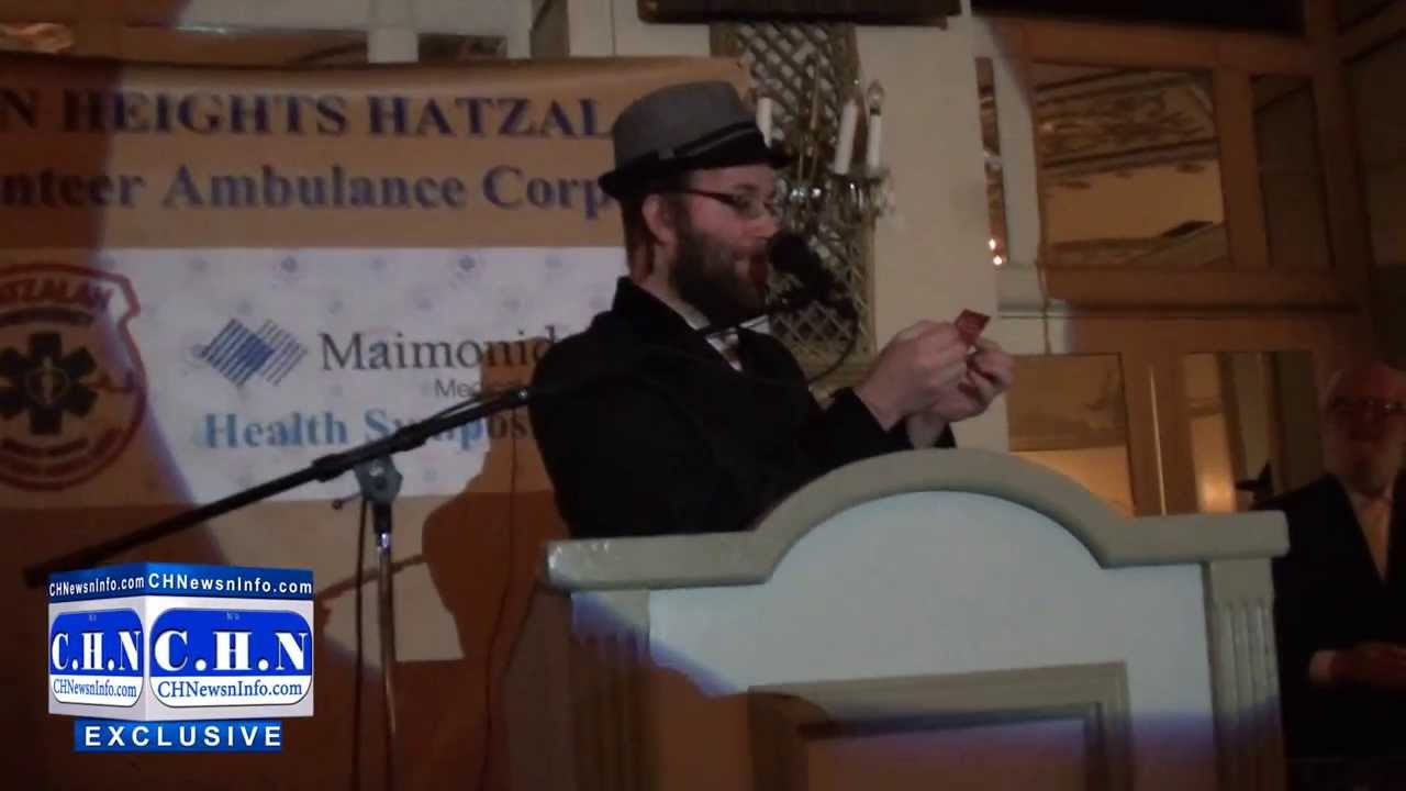 Yoely Lebowitz Announces The Winner at the Crown Heights Hatzalah Drawing For 2014