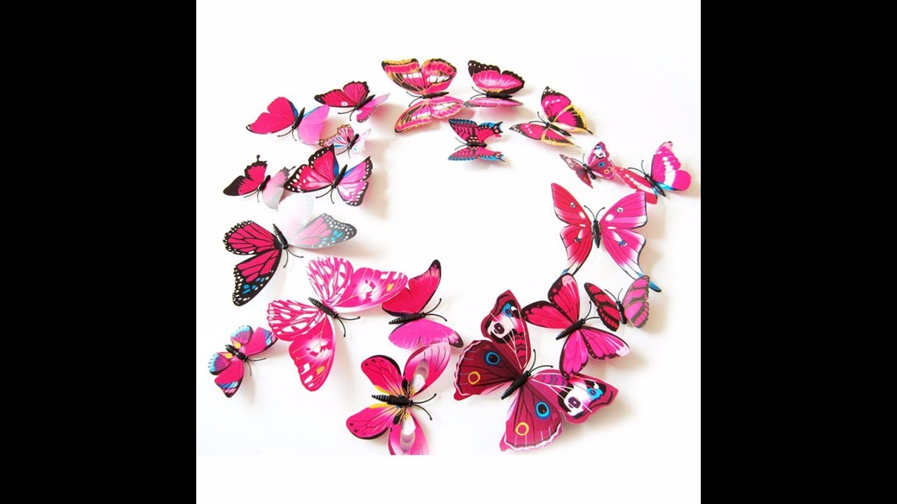Butterfly Wall Stickers For Kids Rooms   Butterfly Custom Wall Stickers For  Girls Room Or Nursery