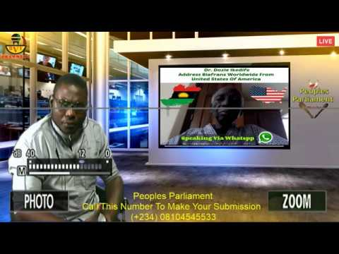 Live Broadcast: Dr. Ikedife Address Biafrans Worldwide From America (Peoples Parliament).