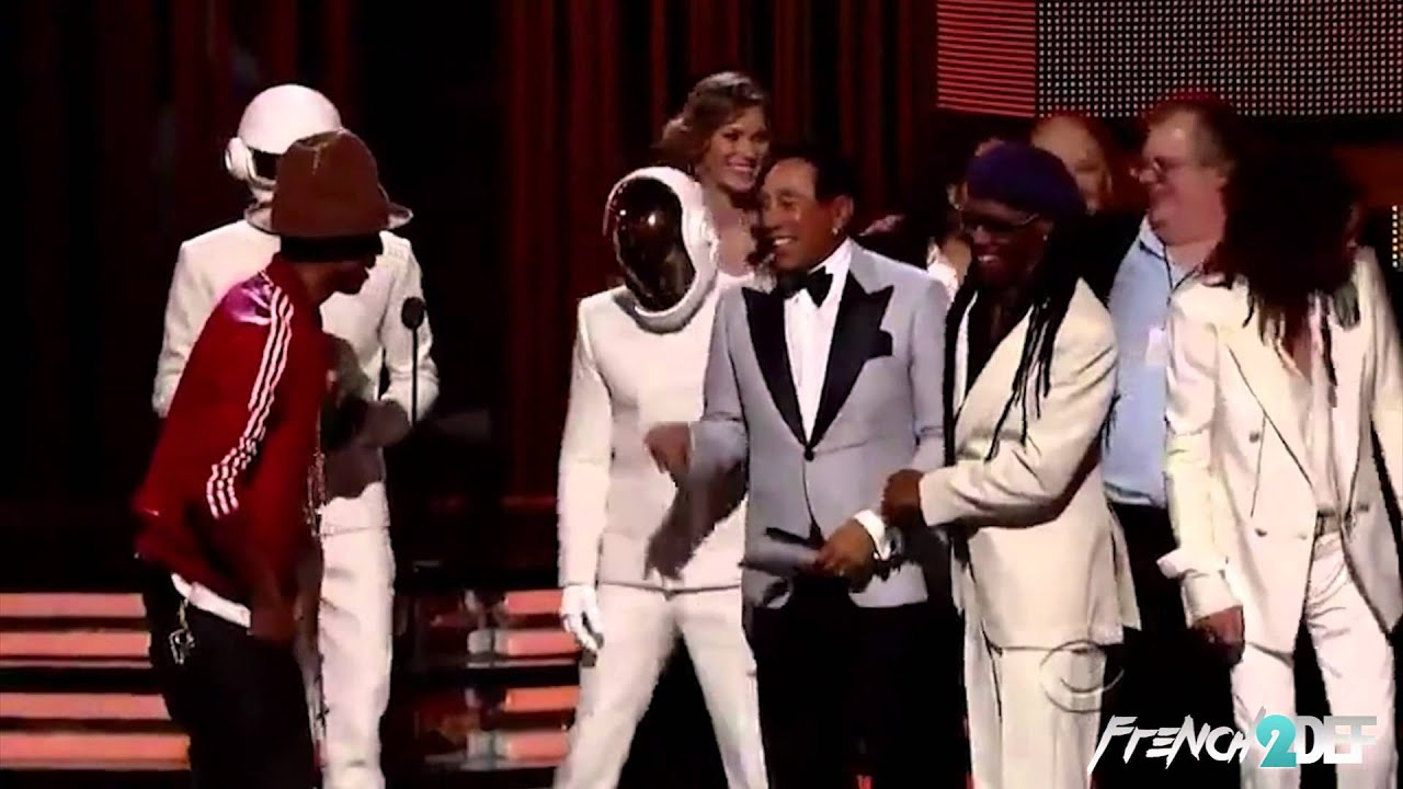 Daft Punk Real Face At The Grammy Awards 2014 Youtube