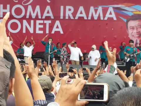 RHOMA IRAMA KAMPANYE ANIES SANDI; Lagu adu domba