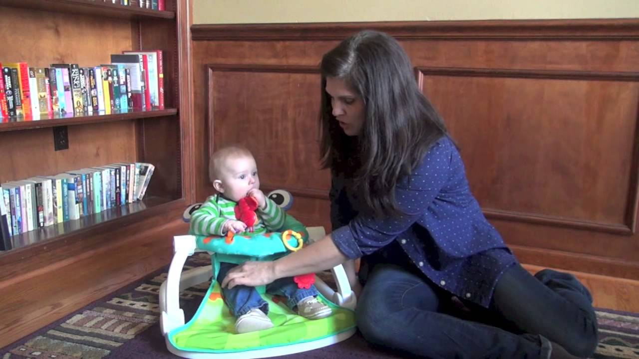Fisher Price Sit And Play Chair Swinging Baby Me Up Floor Seat Review Youtube