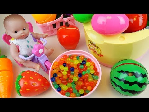 Thumbnail: Baby Doll Cooking pot refrigerator Surprise eggs Orbeez food toys play