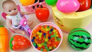 Baby Doll Cooking pot refrigerator Surprise eggs Orbeez food toys play