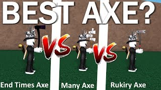 What's The Best Axe? Most Powerful Axe? Lumber Tycoon 2 Roblox