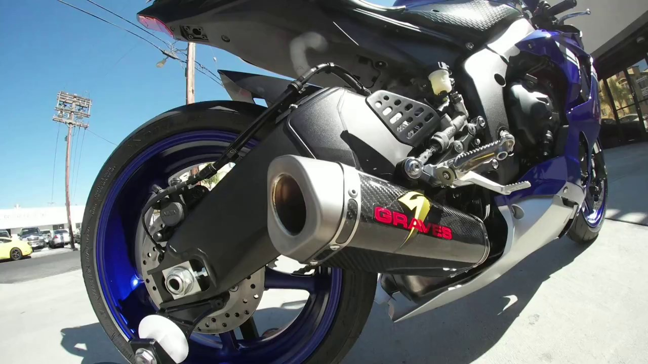 Graves Motorsports Yamaha R6 Cat-Back Slip-on Titanium Exhaust