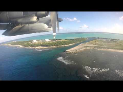 C-130 Approach and Landing on Wake Island