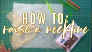 How to Raise a Low V Neckline  |  McCall's 8020 Sew Along Bonus Video
