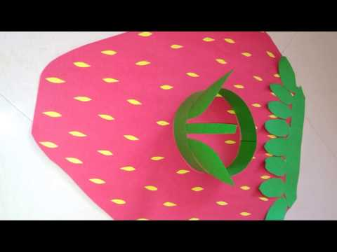 How to make Strawberry costume for fancy dress at home/strawberry costume for kids