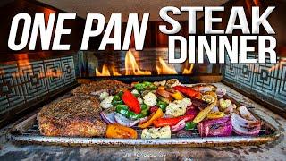 The Best Quick & Easy Dinner - One Pan Steak & Roasted Veggies | SAM THE COOKING GUY 4K
