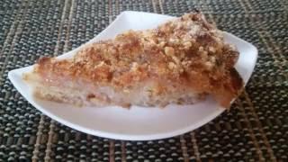 Насыпной яблочный пирог с манной крупой 3 стакана