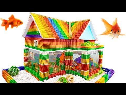DIY - Build Amazing Aquarium House For Goldfish With Magnetic Balls (Satisfying) - Magnet Balls