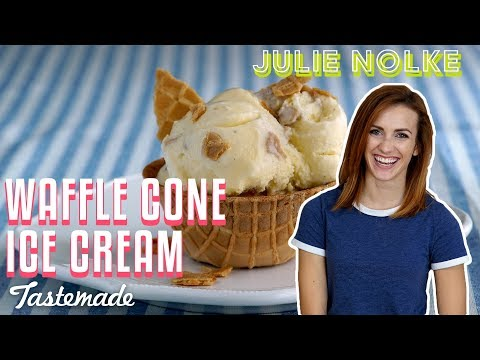 Vanilla Waffle Cone Ice Cream | 5 Second Rule with Julie