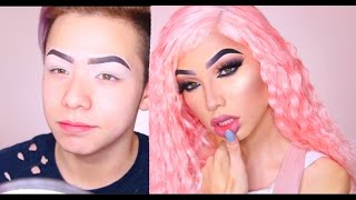 BOY TO GIRL : NIKITA DRAGUN MAKE UP  TRANSFORMATION