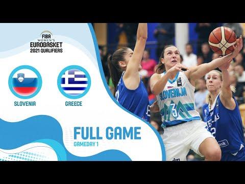 Slovenia V Greece - Full Game - FIBA Women's EuroBasket 2021 Qualifiers