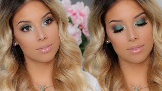 all nyx tutorial   mermaid green smokey eyes