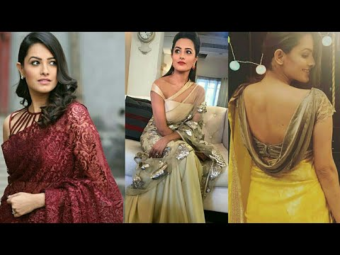 d45e07bda0d904 Anita Hassanandani Aka Shagun Designer Saree & Blouses Collection From Yeh  Hai Mohabbatein