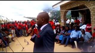 Nelson Chamisa speaks at Justine Chitate