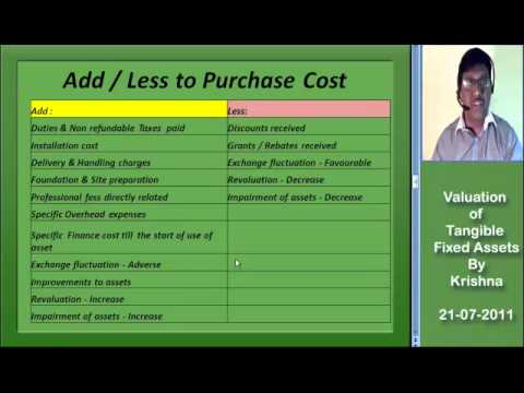Valuation of Tangible Fixed Assets _ Part 1 by Krishna