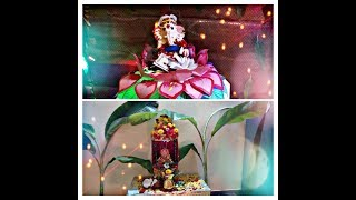 Ganapati decoration ideas at home/simple and easy ganapati decoration/ganesh chaturthi decoration