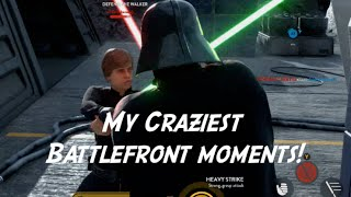 My Craziest Battlefront Moments! Includes epic fails on Jakku!