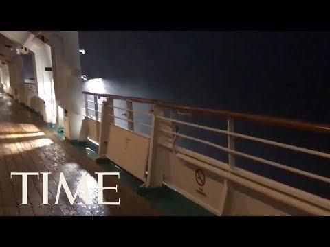 Gaby Calderon - Video: Crucero queda atrapado en medio de Huracán Michael