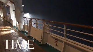 Cruise Ship Battered By Rough Waters Due To Hurricane Michael | TIME