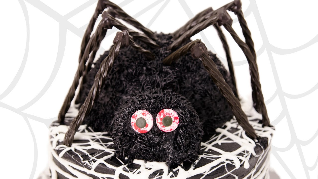 3d spider cake halloween cake from cookies cupcakes and cardio youtube