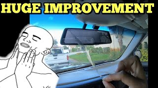 X1 PRO Rear View Mirror Dash Cam Install & Review