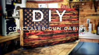 Wooden American Flag Concealed Gun Cabinet How To