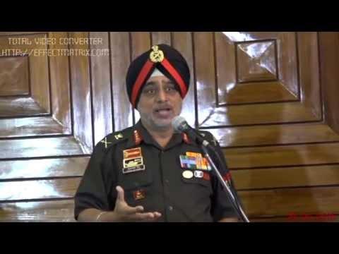 Speech By Lt  Gen   K J Singh PVSM, AVSM, GOC in Western Command  in Nishan E Sikhi on 23 4 16